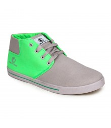 Cefiro Men Casual Shoes Fun03 Light Grey Green CCS0011
